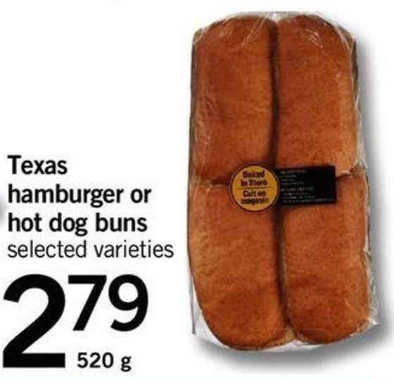 Texas Hamburger Or Hot Dog Buns - 520 G