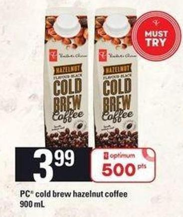 PC Cold Brew Hazelnut Coffee - 900 mL