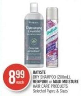 Batiste Dry Shampoo (200ml) - Renpure or Maui Moisture Hair Care Products