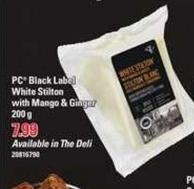 PC Black Label White Stilton With Mango & Ginger - 200 g