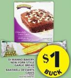 Di Manno Bakery New York Style Garlic Bread Or Bakewell Desserts Cakes
