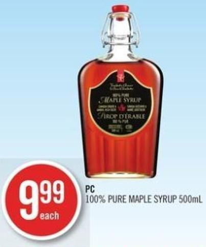 PC 100% Pure Maple Syrup - 500ml