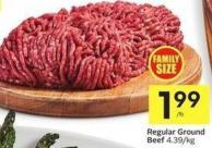 Regular Ground Beef 4.39/kg