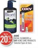 Bioré Facial Cleansers or Oxy Acne Care Products