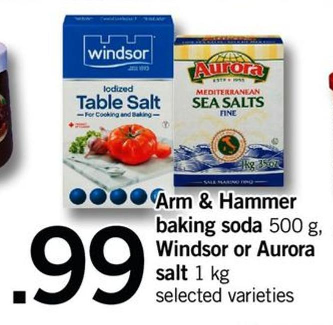 Arm & Hammer Baking Soda 500 G - Windsor Or Aurora Salt - 1 Kg