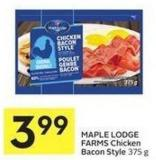 Maple Lodge Farms Chicken Bacon Style 375 g