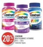 Centrum Multigummies Vitamins 60's - 130's