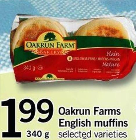 Oakrun Farms English Muffins - 340 G
