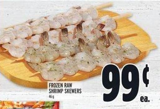 Frozen Raw Shrimp Skewers