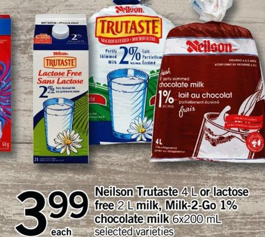 Neilson Trutaste - 4 L Or Lactose Free - 2 L Milk - Milk-2-go 1% Chocolate Milk - 6x200 Ml