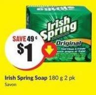 Irish Spring Soap 180 g 2 Pk