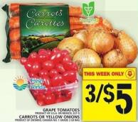 Grape Tomatoes Or Carrots Or Yellow Onions
