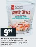 PC Pacific Large White Shrimp - Cooked Peeled 31-40 Per Lb Frozen 400 G Or PC Shrimp And Sauce 480 G