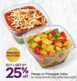 Mango or Pineapple Salsa or Guacamole Dip Selected Sizes