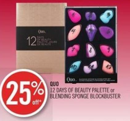 Quo 12 Days Of Beauty Palette or Blending Sponge Blockbuster