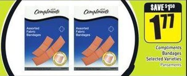 Compliments Bandages Selected Varieties