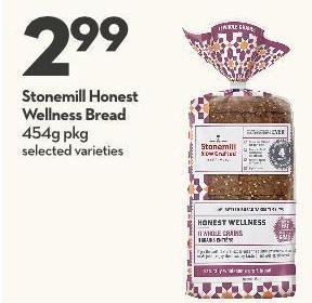 Stonemill Honest  Wellness Bread 454g Pkg