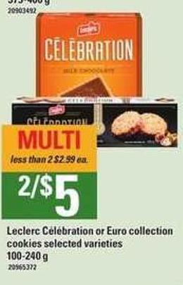 Leclerc C'l'bration Or Euro Collection Cookies - 100-240 g
