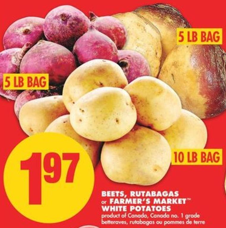 Beets - Rutabagas Or Farmer's Market White Potatoes - 10 Lb Bag