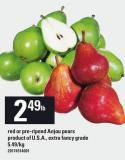 Red Or Pre-ripend Anjou Pears