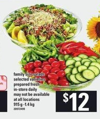 Family Size Salads - 915 G-1.4 Kg