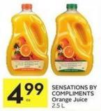 Sensations By Compliments Orange Juice 2.5 L