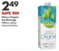 Natur-a Organic  Soy Beverage 946ml Carton