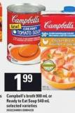 Campbell's Broth - 900 mL or Ready-to-eat Soup - 540 mL