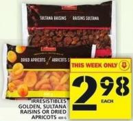 Irresistibles Golden - Sultana Raisins Or Dried Apricots