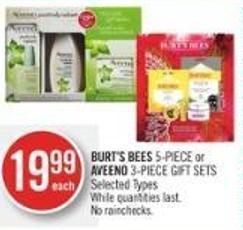 Burt's Bees 5-piece or Aveeno 3-piece Gift Sets