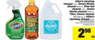 Allen's Cleaning Vinegar - 2.5 L - Green Works Cleaner - 946 Ml - Pine-sol Cleaner - 1.41 L - Green Works Cleaner - 946 Ml - Tilex - Clorox Cleaner - 887-946 Ml Or Allen's Cleaning Vinegar - 2.5 L
