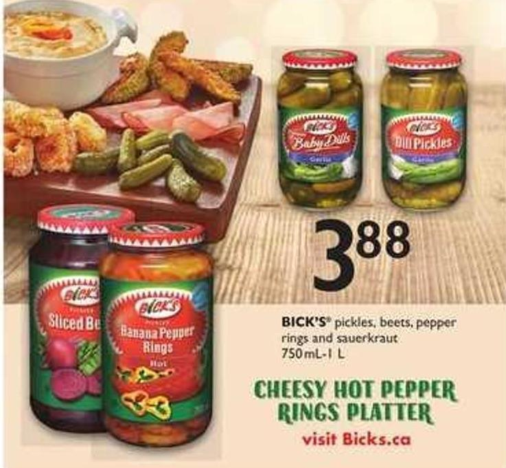 Bick's Pickles - Beets - Pepper Rings And Sauerkraut