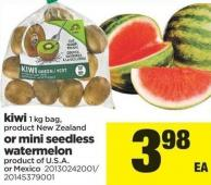 Kiwi - 1 Kg Bag Or Mini Seedless Watermelon