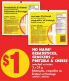 No Name Breadsticks - Crackers or Pretzels & Cheese - 3 X 29 g