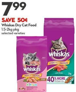 Whiskas Dry Cat Food 1.5-2kg Pkg