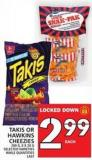 Takis Or Hawkins Cheezies 280 G - 8 X 28 G