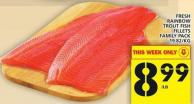 Fresh Rainbow Trout Fish Fillets Family Pack