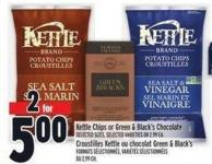 Kettle Chips Or Green & Black's Chocolate
