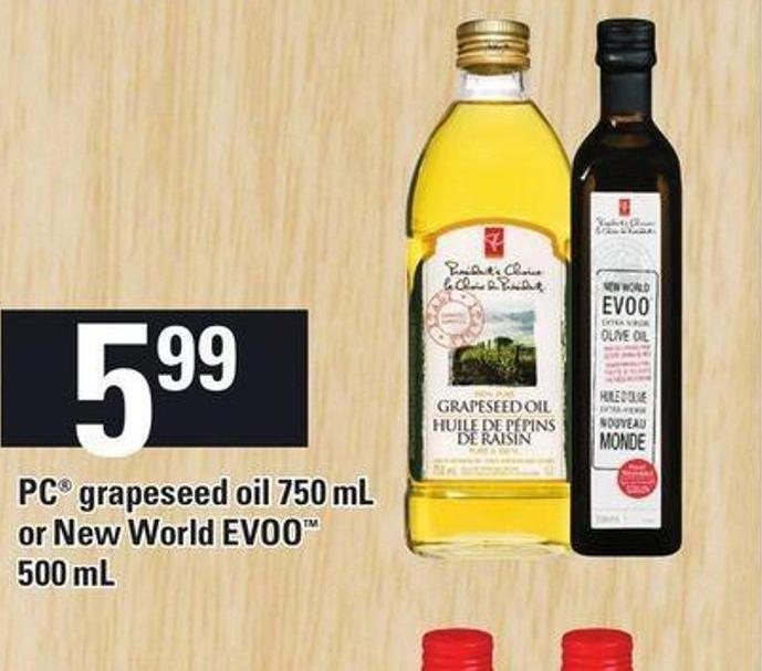 PC Grapeseed Oil 750 Ml Or New World Evoo 500 Ml