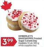 Kimberley's Bakeshoppe Frosted Sugar Canada Day Cookies 10 Pk 383 g