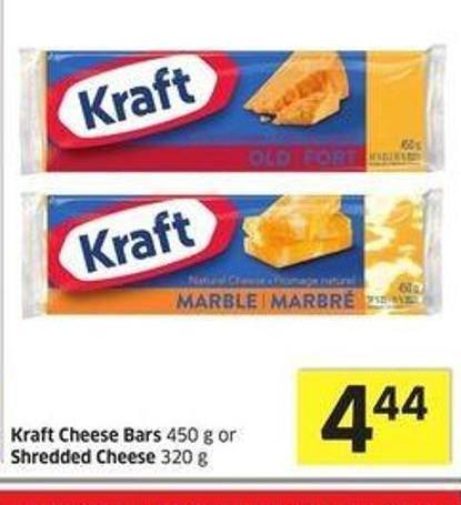 Kraft Cheese Bars 450 g or