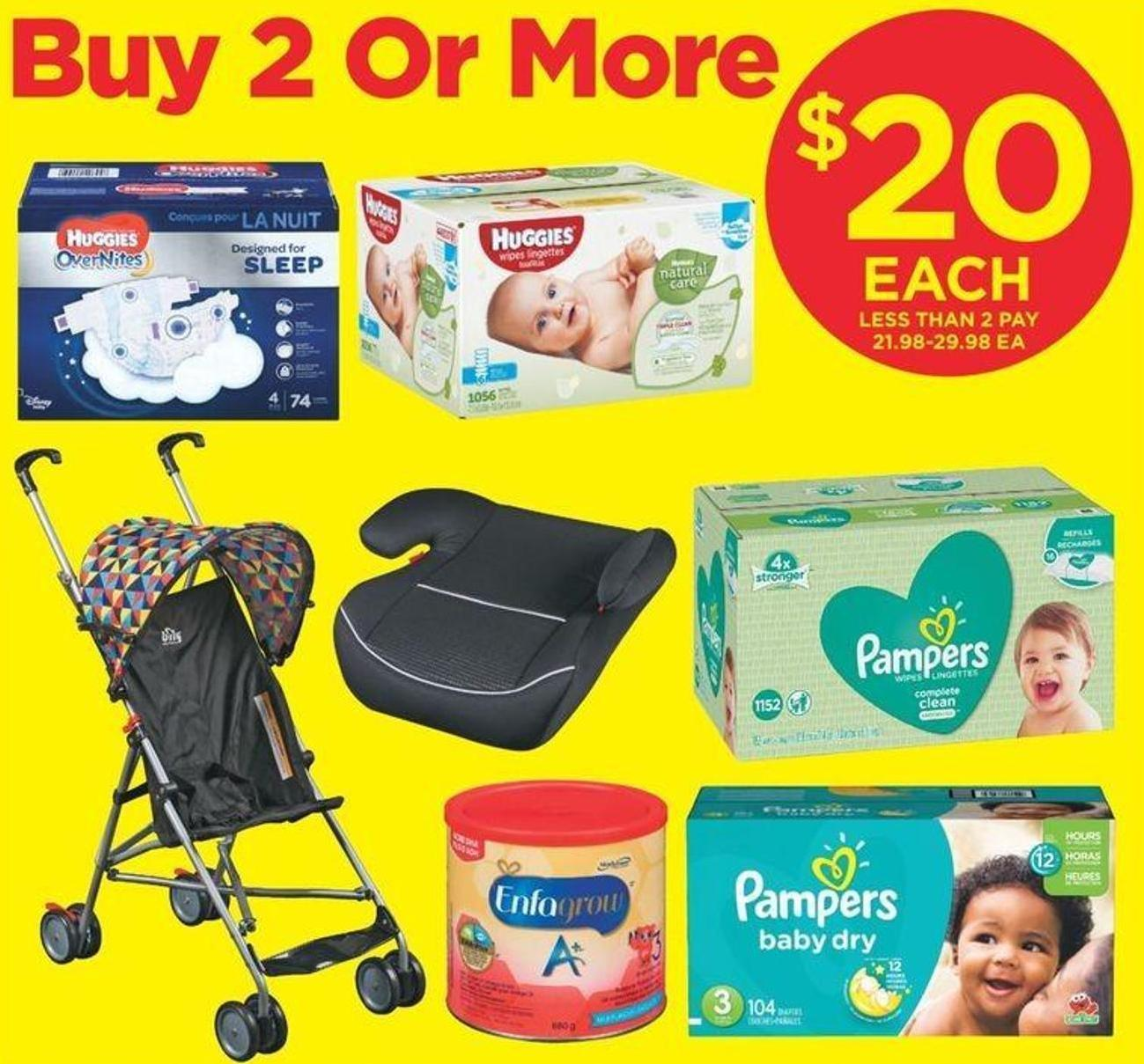 Enfagrow A+ Toddler Nutritional Supplement - 680 G - Bily Pattern Umbrella Stroller Or Low Back Booster Seat - Pampers Or Huggies 16x Wipes - 1024-1200's - Pampers And Huggies Super Big Pack Diapers - Sizes N-7