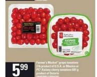 Farmer's Market Grape Tomatoes - 2 Lb Or PC Axiany Cherry Tomatoes - 681 G