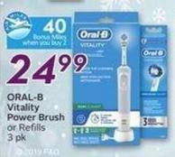 Oral-b Vitality Power Brush or Refills - 40 Air Miles Bonus Miles