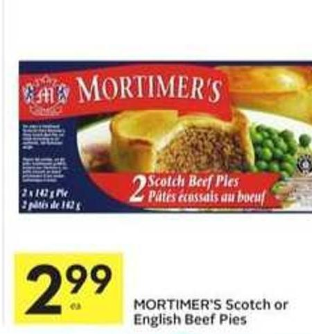 Mortimer's Scotch or English Beef Pies