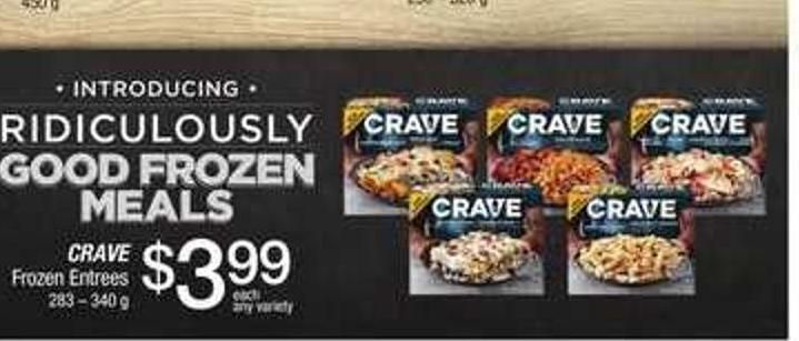 Crave Frozen Entrees - 283 – 340 G