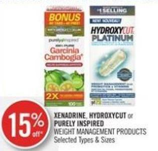 Xenadrine - Hydroxycut or Purely Inspired Weight Management Products