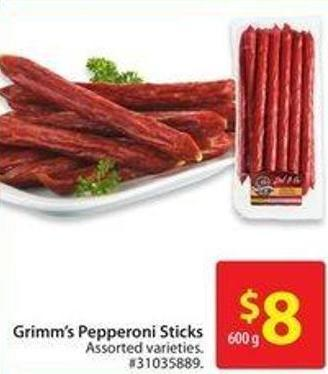 Grimm's Pepperoni Sticks