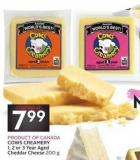 Cows Creamery 1 - 2 or 3 Year Aged Cheddar Cheese
