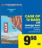 Clif Energy Bars - Case Of 12 Bars - 12x68 g